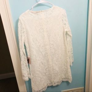 Forever 21 Dresses - FOREVER 21 Ivory Lace Dress Size M